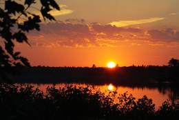 Sonnenuntergang am Grand Lake, New Brunswick