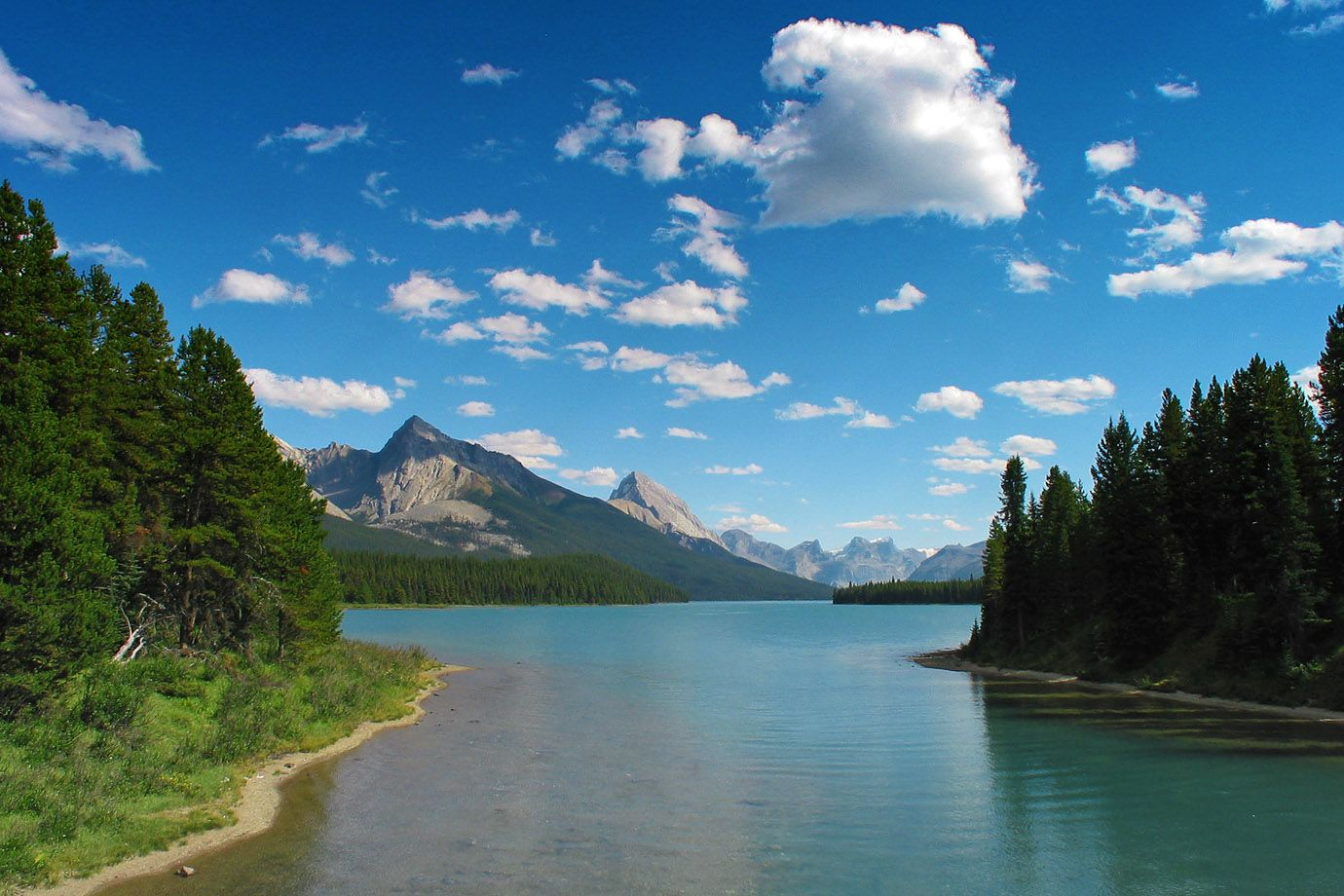 Maligne Lake in Alberta, Kanada